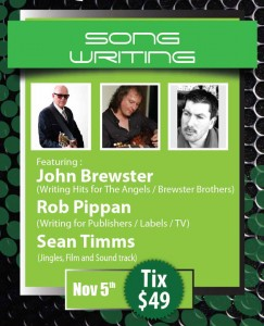 John Brewster To Present At Songwriting Masterclass - 5th November 2013