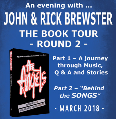 The Angels Book Tour Round 2 - March 2018